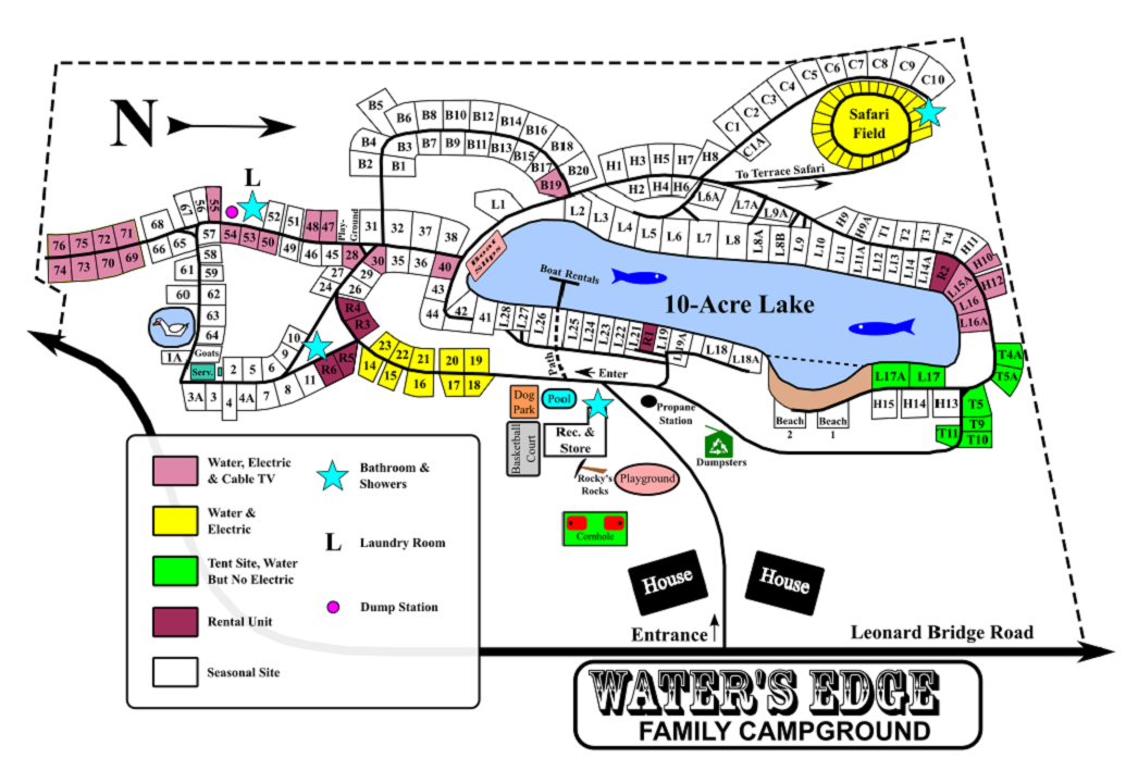 Water's Edge Site Map